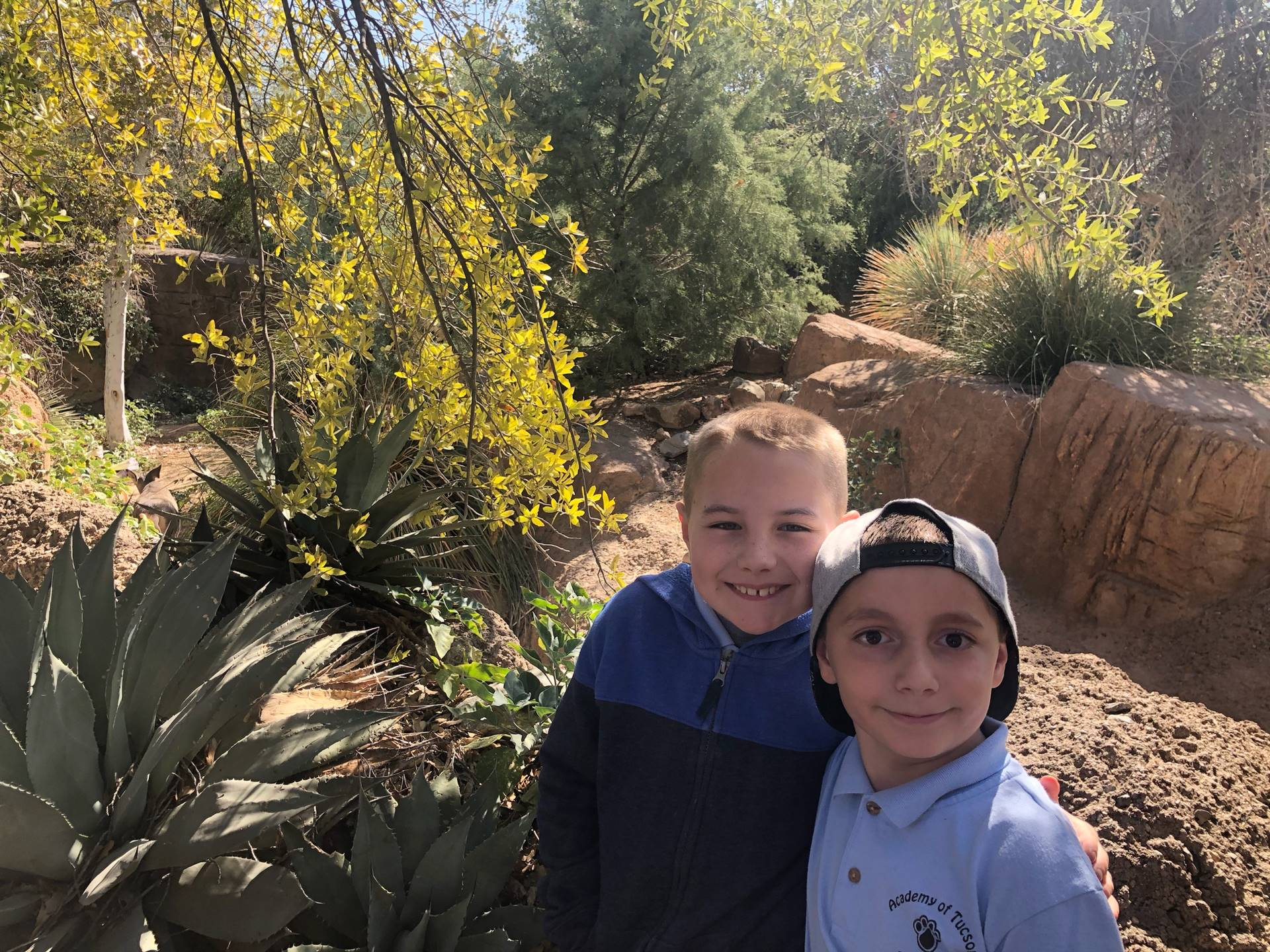 2 students at The Sonoran Desert Museum