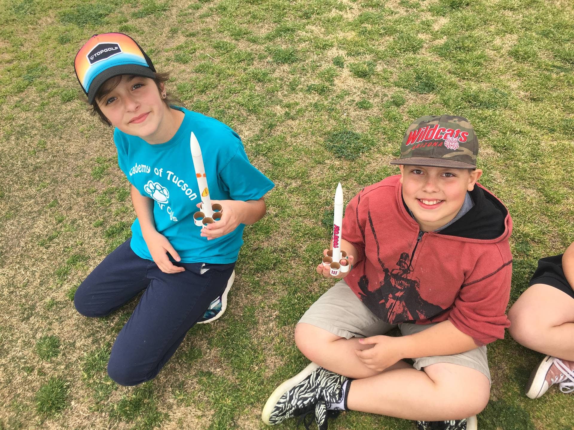 4th Graders wait to launch rockets