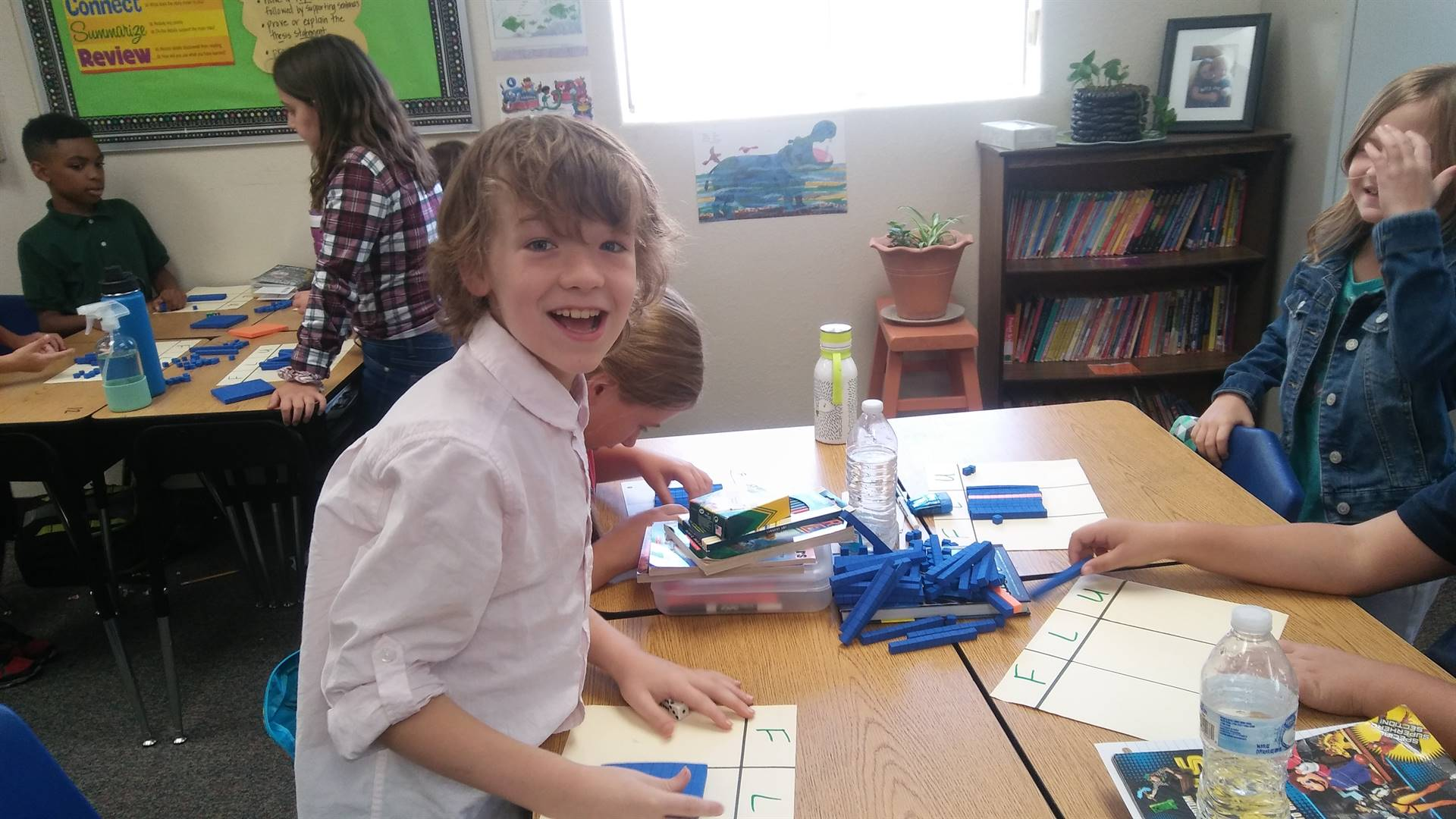 Students practice math concepts