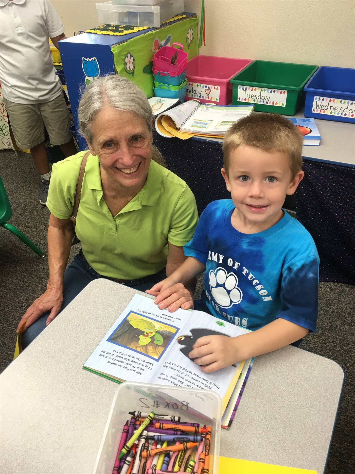 Kinder book with grandparent