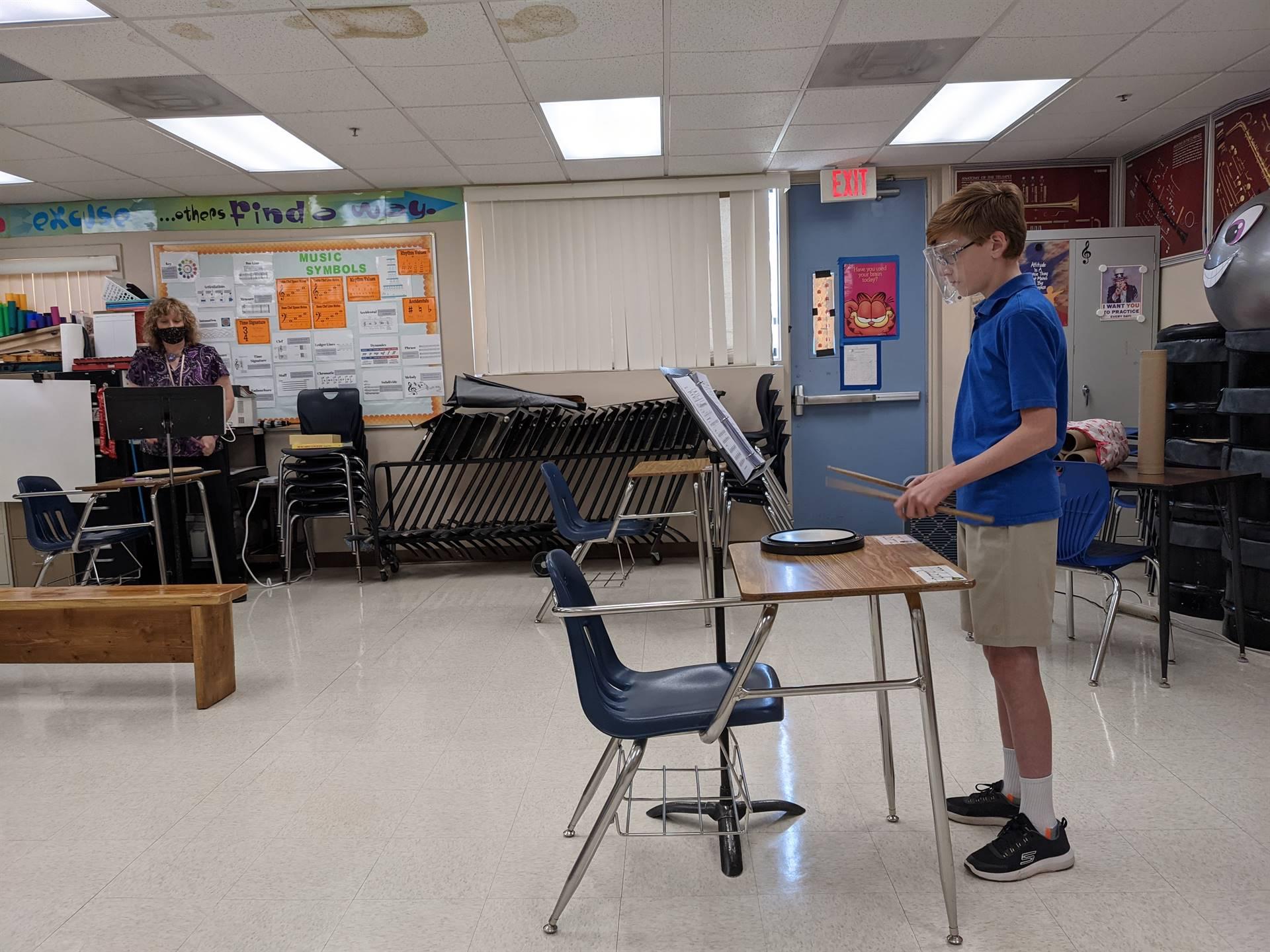 Drum Lesson with Mrs. Cmiel